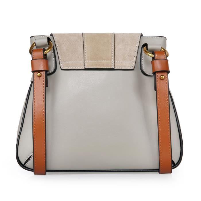 Cuir suédé véritable Sac bandoulière épaule hangbag Sac poignet pour les femmes K4KFH