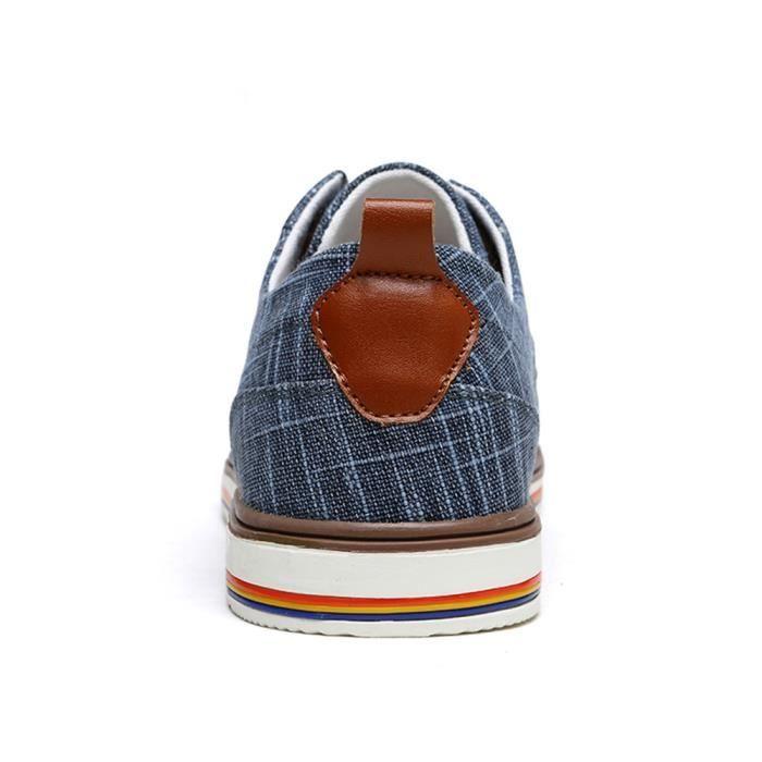 Hommes Chaussures Occasionnels Respirant Chaussures de Appartements Low Classique Hommes Chaussure Toile Top chaussures Mâle ggrBxw