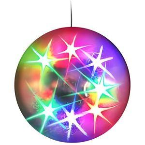 BOULE A FACETTES LAMPE BOULE LUMINEUSE ECLAIRAGE 360° 16 LED EFFET