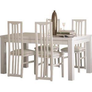 Table Pas Et Chaises Cher Achat 4 Blanche Vente jR3AL54q
