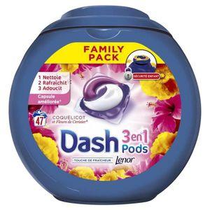LESSIVE Dash Lenor 3en1 Pods Coquelicot Et Fleurs De Ceris