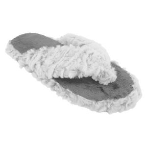 bd5943065b3 Chaussons style tongs - Femme Gris Gris - Achat   Vente chausson ...