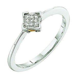 BAGUE - ANNEAU Bague Femme Diamants 0.01 ct  Argent Fin 925-1000