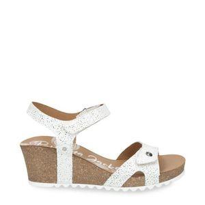 SANDALE - NU-PIEDS sandale - nu-pieds PANAMA JACK JULIA ROSES BLANCA