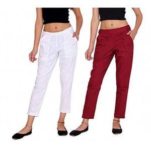 bbe310c6161 PANTALON Coton Pantalon coupe classique pour femmes -- C1OG