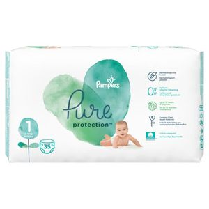 COUCHE 35 Couches Pampers Pure Protection Taille 1 Newbor