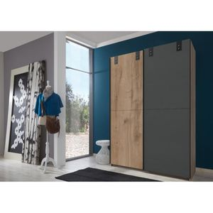 ARMOIRE DE CHAMBRE Armoire design 2 portes coulissantes chene poutre