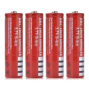 PILES 4pcs BRC 18650 6800mAh 3.7V batterie Li ion rechar