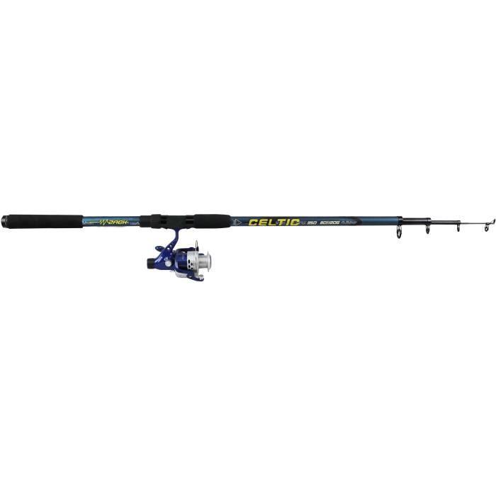Canne à pêche combo celtic fort mer et rivière - 3,5 m