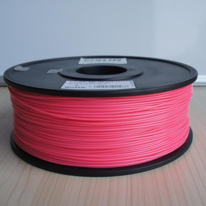 ESUN Filament pour Imprimante 3D PLA ESUN - Rose - 3 mm - 1kg