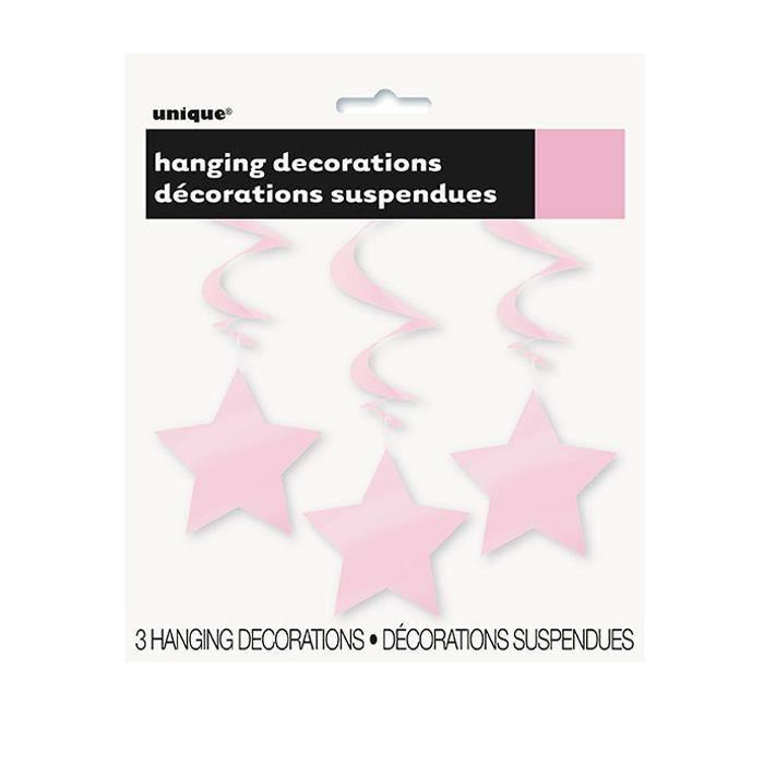 Étoiles roses bébés suspendus tourbillon décorations Pk3 - Achat ... 9705168c10a