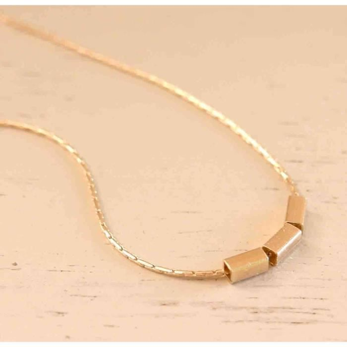 Womens Delicate Gold Boho Necklace - Beads Pendant Necklace - Gold Beads Necklace - Dainty Gold Fi NREAC