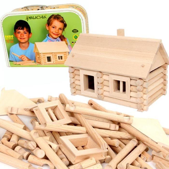 Jeu de construction chalet en bois vario 72 pcs achat vente assemblage construction cdiscount for Construction en bois wiki