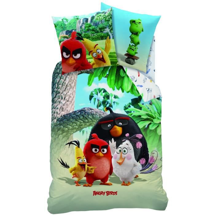 linge de lit angry birds Angry Birds Palm Plage Linge de lit Castor 80 x 80 cm + 135 x 200  linge de lit angry birds