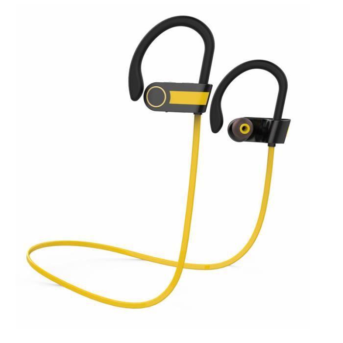 Mini Casque Stéréo Bluetooth Sport Mini-écouteurs Intra-auriculaires-orange