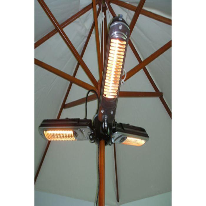 parasol chauffant lectrique trois lampes 2000w achat vente parasol parasol chauffant. Black Bedroom Furniture Sets. Home Design Ideas