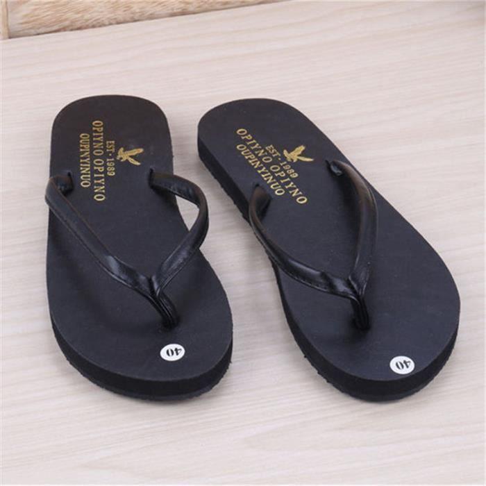 Amateurs Bonne Qualité Nouvelles Pantoufles De Plage D'été À Fond Plat Chaussures Antidérapantes Pour Les Hommes Et Les Femmes rsty4