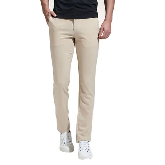 ac0cc9ad81c2 Hommes Pantalons Chino Slim Fit Ultra Strench Pantalons Stretch ...