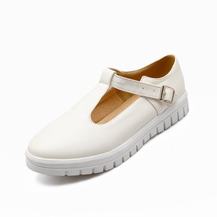 Cuir noir Femme Toutes blanc Pu 43 Plateforme La Rose Les En Pointures De Chaussures 35 1tBAWnUA