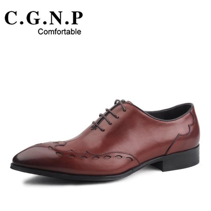 Mode Italienne formelles Hommes chausseurs cuir noir véritable mariage d'affaires Toe Pointu Flats