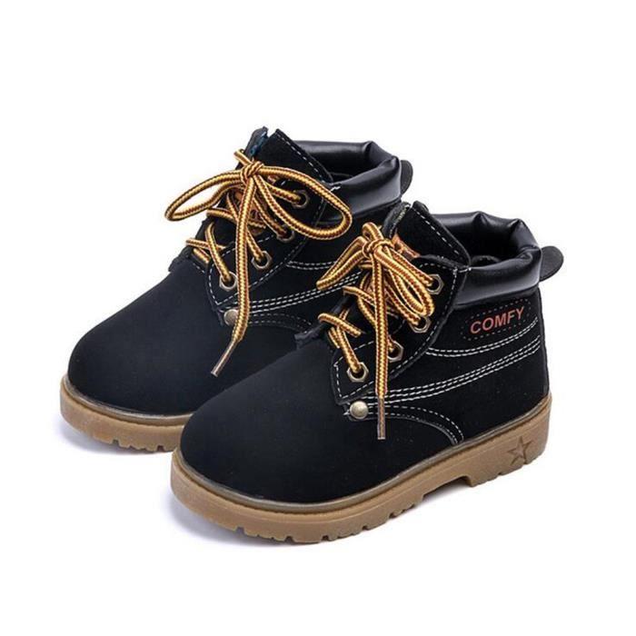 Bottes Enfants Hiver Qualité Supérieure Boy Girl Chaussures En Peluche Occasionnelles Warm Martin Bottine Mode Confortable