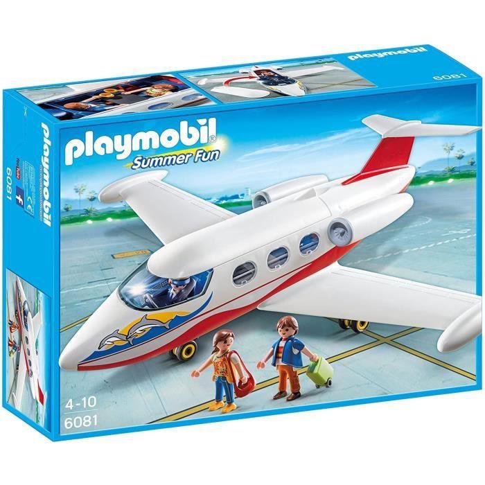playmobil 6081 avion avec pilote et touristes 4008789060815 achat vente univers miniature. Black Bedroom Furniture Sets. Home Design Ideas