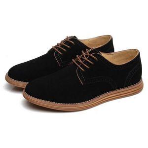 Oxford Flats en cuir décontractée Mode homme Mocassins en cuir pour homme,marron,9.5,6566_6566