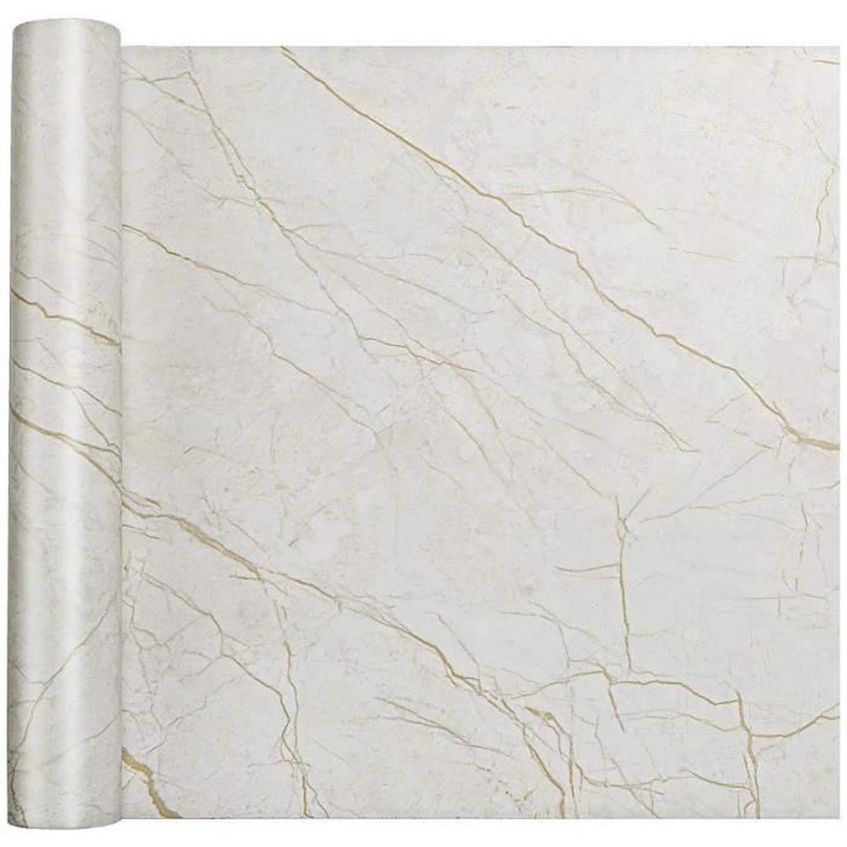 Cuisine Papier Peint Autocollant Blanc Adhesif Effet Bois