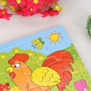 PUZZLE Tonsee®Puzzles de main d'enfants Puzzle Board Cart