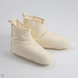 CHAUSSON - PANTOUFLE Chaussons duvet Homme ivoire Pointure - L (45-48)