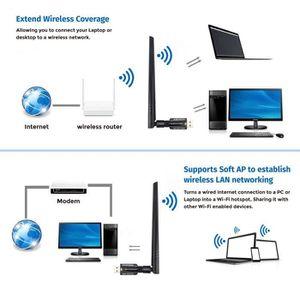 CLE WIFI - 3G Adaptateur USB Wifi, ANEWKODI 1200Mbps Clé Wifi Do