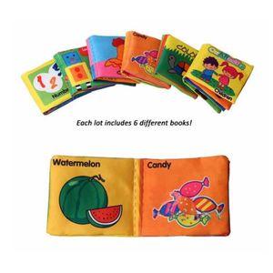 LIVRE D'ÉVEIL Bébé jouets 6 PCS/Set livres en tissu doux bruisse
