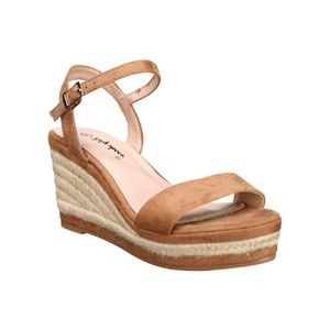 1ec84da7f8e8 SANDALE - NU-PIEDS Sandale compensée Lily shoes 203 Camel
