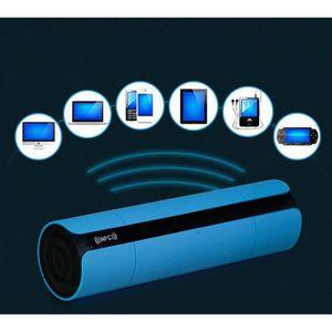 ENCEINTE NOMADE Stéréo NFC FM Bleu HIFI Haut-parleur Bluetooth Wir