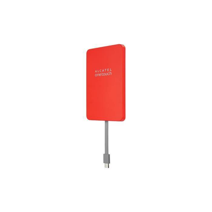 ALCATEL Batterie externe  à ventouse GECKO2 - Micro USB - 3020 mAh - Rouge