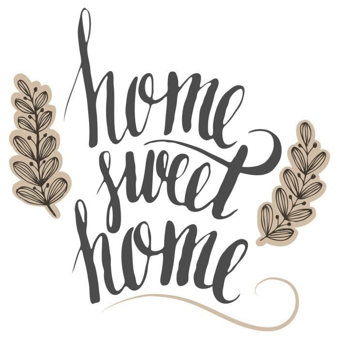 EMOTION Toile Home Sweet Home - 30x30 cm - Chassis en bois