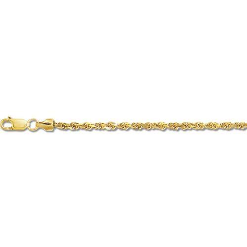 14 carats - 20 Collier Corde solide Chaîne-1,5 mm