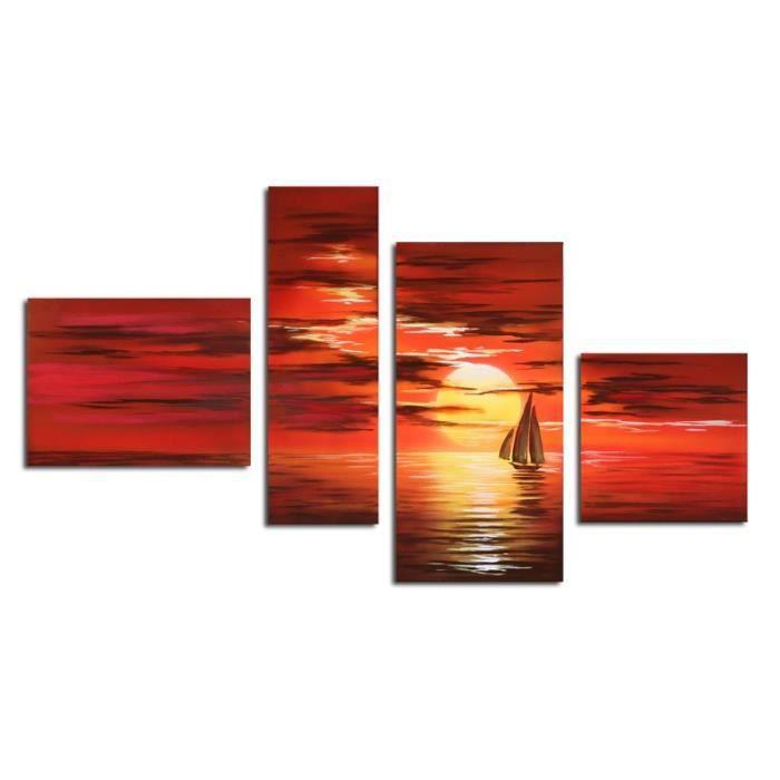 """TABLEAU - TOILE Bilderdepot24 """"coucher de soleil M1"""" tableau pe…"""