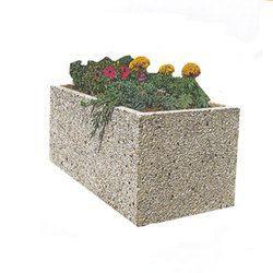 jardiniere rectangle en beton achat vente jardini re. Black Bedroom Furniture Sets. Home Design Ideas