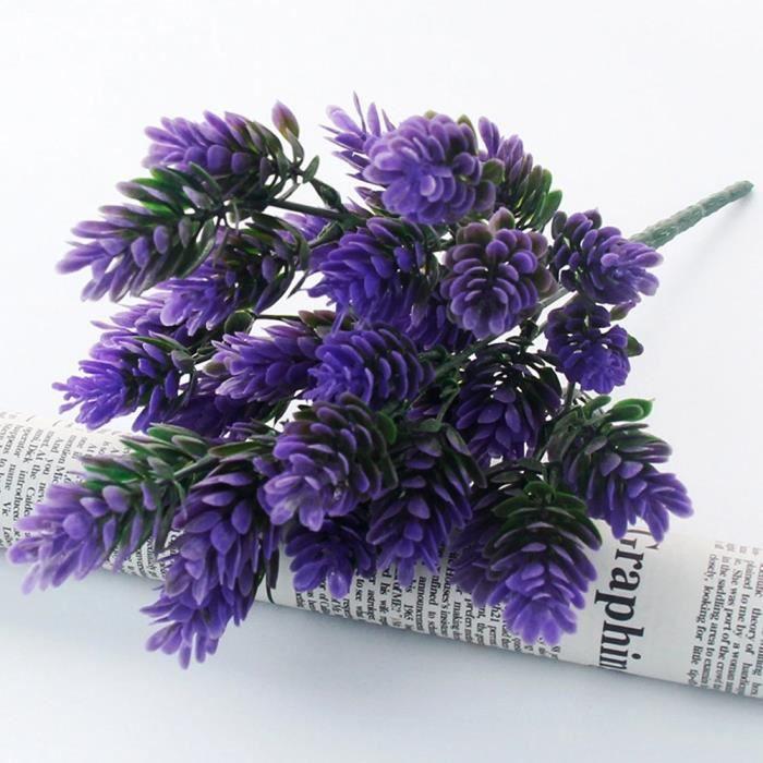1 bouquet de fleur de plante en plastique artificielle ...
