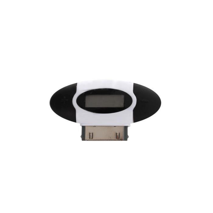 Transmetteur FM + chargeur voiture blanc iPhone 3 & 4