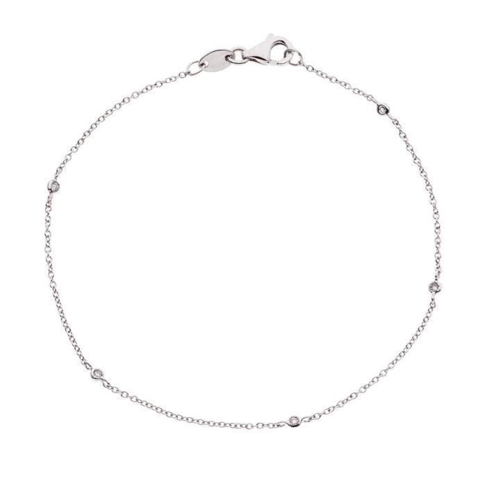 DIAMOND LANE Bracelet Argent 925° et Diamants Femme
