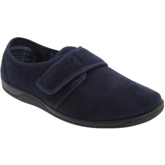 268c5d5c863b47 CHAUSSON - PANTOUFLE Sleepers Tom - Chaussons scratch - Homme Bleu m.