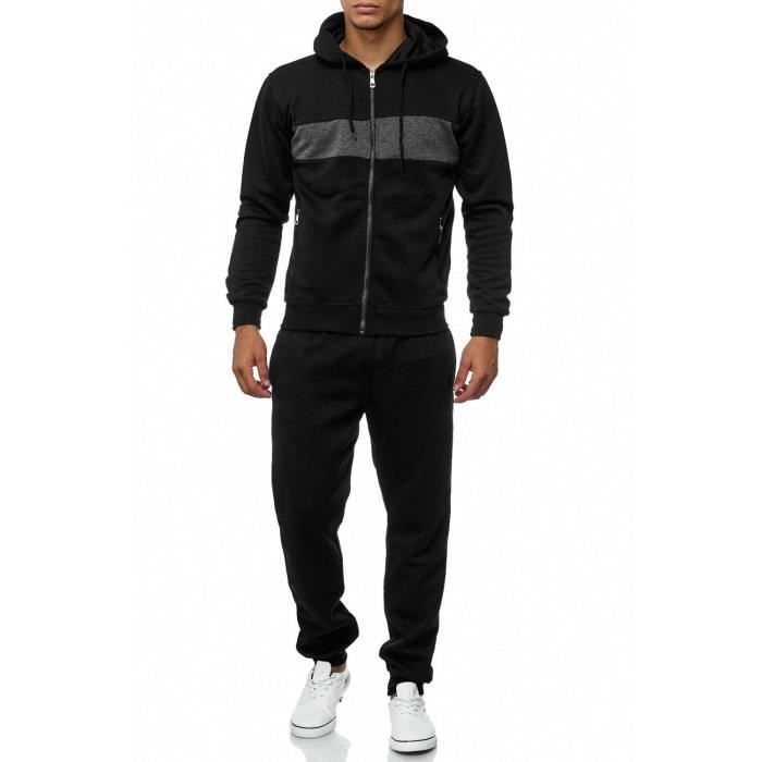 3277d8c310e4a Survêtement homme survêtement gris Mottled Fitness Suit Sport Crazy Melange   XL, Gris foncé