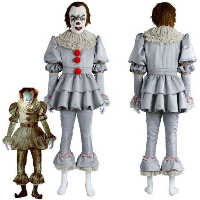 a film 2017 pennywise the clown costume d guisement homme achat vente d guisement a film. Black Bedroom Furniture Sets. Home Design Ideas