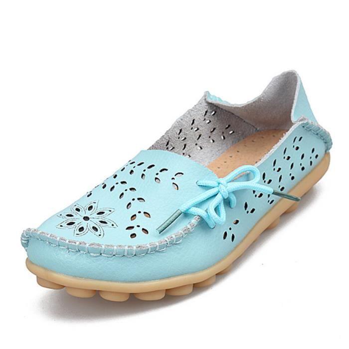 Moccasin femmes De Marque De Luxe Qualité Chaussure cuir Plus Taille 44 Antidérapant femmes Moccasins Confortable Respirant ylx290
