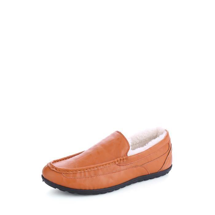 Mocassins hommes épaissie chaud à la mode Chaussures Casual 10790440 YrOc4