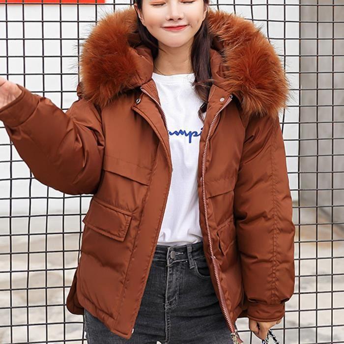 Femmes Manteau d hiver veste vers le bas pour dames fourrure vestes à  capuchon long Puffer Parka CXZ6584 a2624af2e50