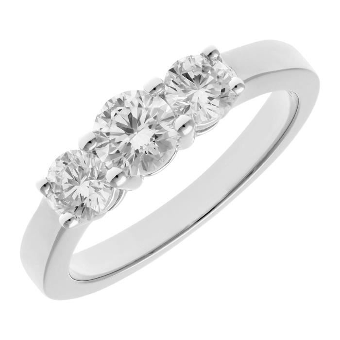 Revoni Bague Diamant Platine 950° Femme: Poids du diamant : 1 ct - CD-PR03527PTJPK-P