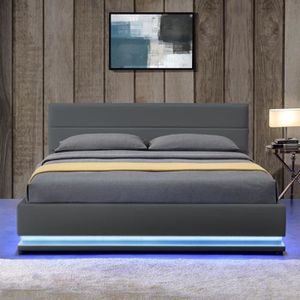 lit design led achat vente lit design led pas cher soldes d s le 10 janvier cdiscount. Black Bedroom Furniture Sets. Home Design Ideas